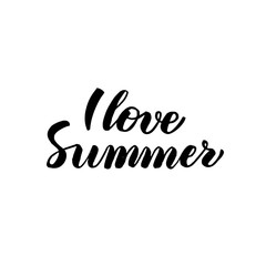 Love Summer Handwritten Calligraphy