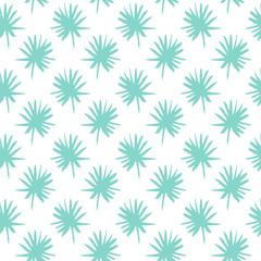 Palm Leaf Brush Seamless Pattern
