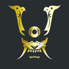 Vector Image of a Samurai Mask