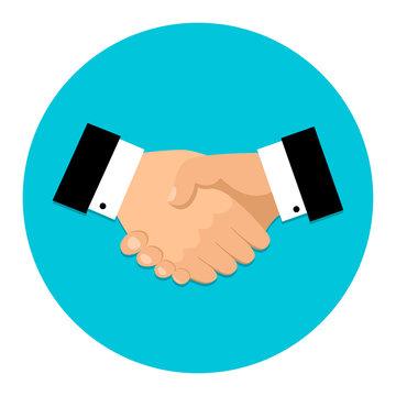 Handshake icon. Shake hands, agreement, good deal, partnership concepts. Vector image