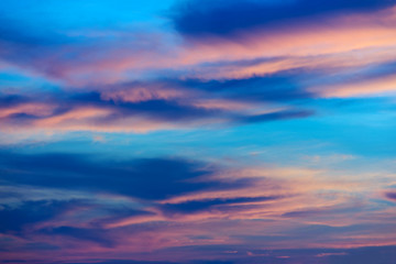 beautiful clouds and the morning sky. background and wallpaper.