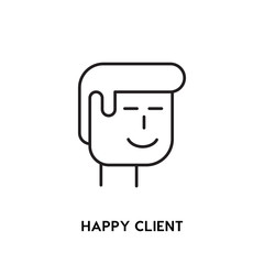 Happy Client Vector Icon, person symbol. Modern, simple flat vector illustration for web site or mobile app