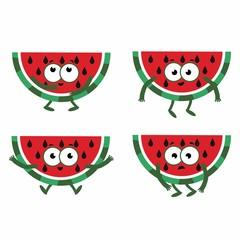 set cartoon watermelon