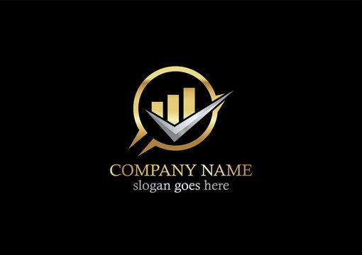 gold business finance progress logo