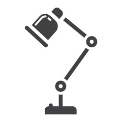 Desk lamp solid icon, table lamp and appliance, vector graphics, a glyph pattern on a white background, eps 10.