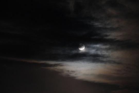 Moon and night