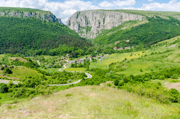 Turda Gorges panorama - Cheile Turzii, natural reserve, Transylvania, Romania