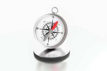 Compass illustration 3D rendering