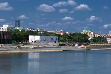 A part of the Vistula embankment from the Vistula Museum