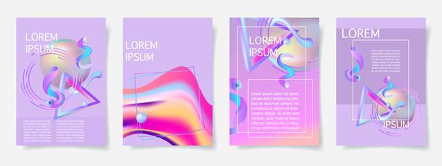 trendy abstract background set, memphis retro style