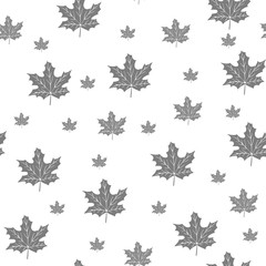 Background of Leaves, seamless pattern