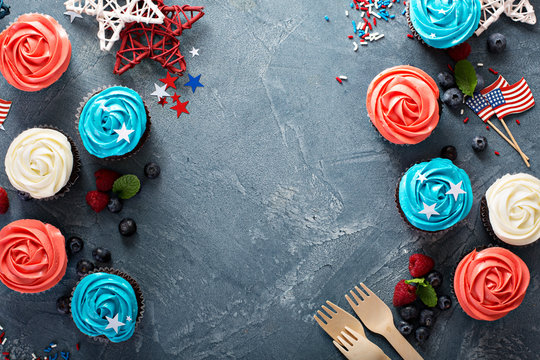 Cupcakes for the Fourth of July