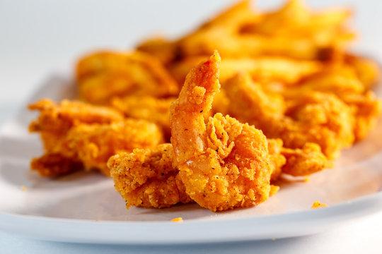 fried shrimp w/ french fries
