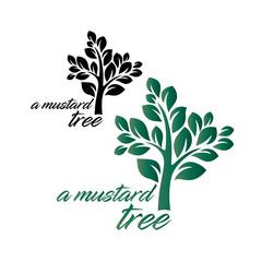 A Mustard Tree, Logo, Green, Black