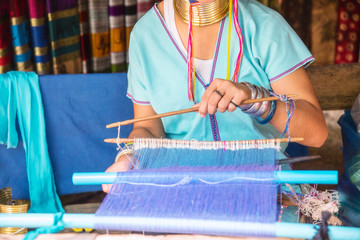 Long Neck Karen Tribal Weaving.