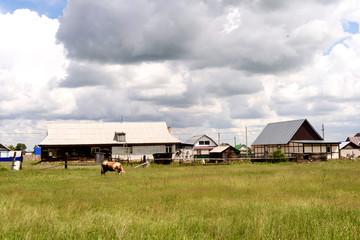 Rural Russian European Farm in Summer