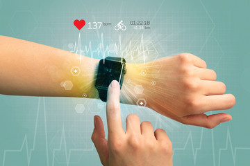 Cycle and smartwatch concept.