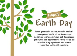Earth day celebration design vector