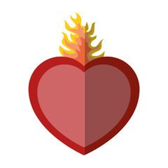 sacred heart icon over white background vector illustration