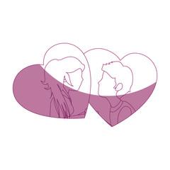 Beautiful and romantic couple icon vector illustration graphic design