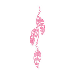Boho style decorative feathers vector illustration design