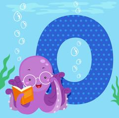 Alphabet Tile Octopus Read
