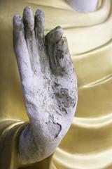 Hand Buddha statue
