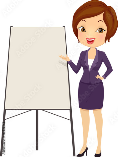 girl business speaker presentation illustration stock image and rh fotolia com free clipart images for business presentations