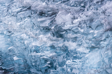 ice texture background at Vatnajokull Glacier Jokulsarlon Iceland.
