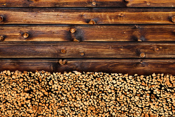 Holz vor de Hütte Wall mural