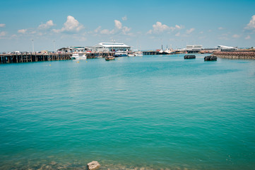 The blue-green waters of Darwin Harbor - Northern Territory, Australia.