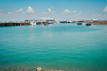 The blue-green waters of Darwin Harbor - Northern Territory, Australia.