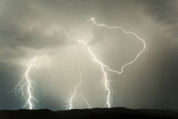Night storm on the Croatian coast