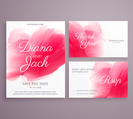 save the date wedding invitation card with paint stroke on background