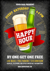 Happy Hour Poster Template