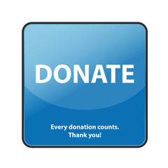 Internet Spenden Button Donate - Every donation counts!