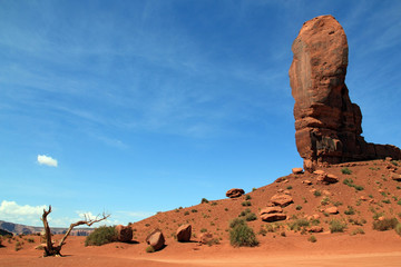 View from Monument Valley Navajo Tribal Park. Utah, United States