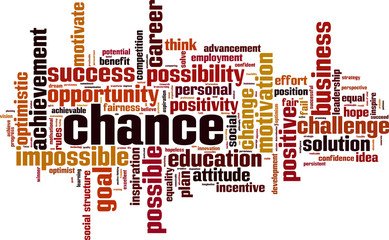 Chance word cloud