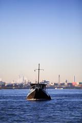 Boot auf einem Fluß 01