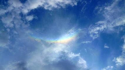 Amazing rainbow in the sky