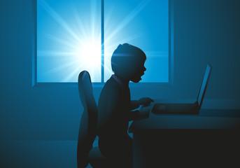 enfant - ordinateur - ordinateur portable - éducation -  jeu - apprendre