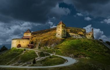 Wall Mural - Rasnov medieval fortress, Brasov landmark, Transylvania, Romania