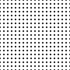 Polka dot pattern. Vector monochrome seamless texture. Abstract black & white geometric backdrop with small circles and spots. Simple repeat background. Light design for decoration, prints, stationery