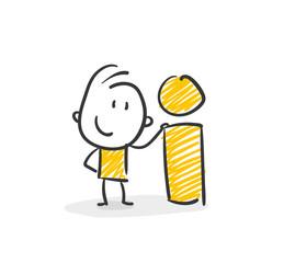 Strichfiguren / Strichmännchen: Information, Auskunft. (Nr. 4)
