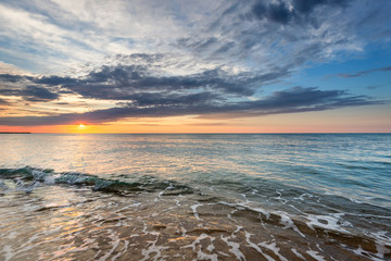 Dramatic Tropical Sunrise at the beach