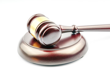 Wood gavel with legal law concept.