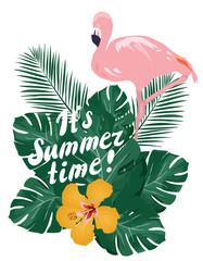 Summer Time Flamingo