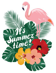 Summer Time Flamingo
