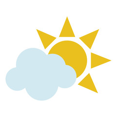 sun and cloud icon image