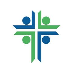 Cross  logo design template. Calvary cross church.